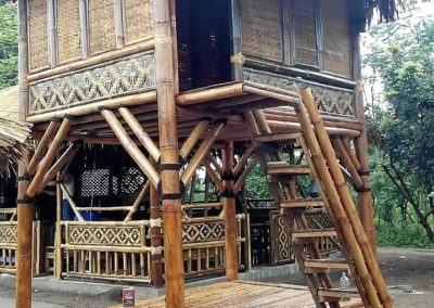 Gazebo Bambu Dua Lantai