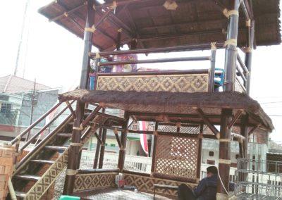 Gazebo Bambu Tingkat